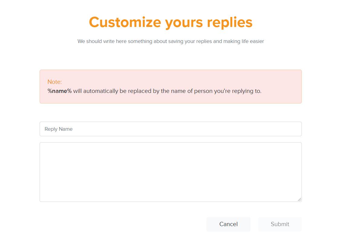 customize your replies