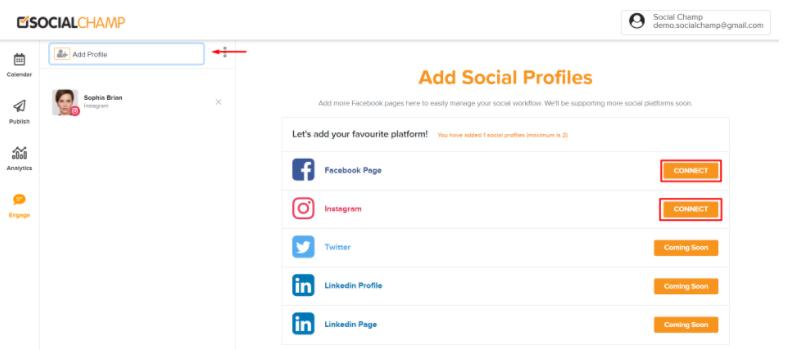 add account engage